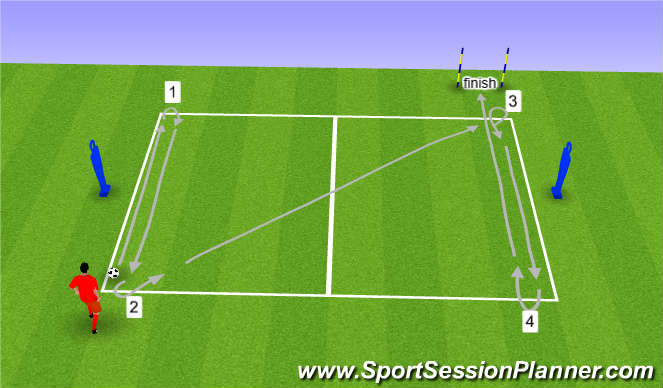 Football/Soccer Session Plan Drill (Colour): D&T Technical Test