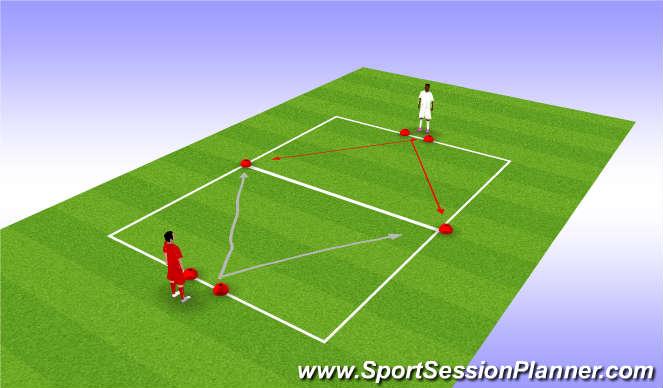 Football/Soccer Session Plan Drill (Colour): First  to cone
