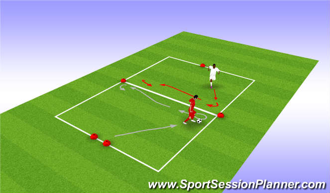 Football/Soccer Session Plan Drill (Colour): Turn and protect