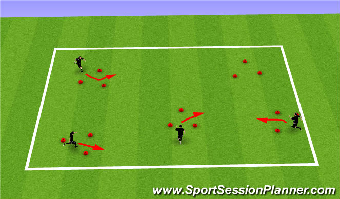 Football/Soccer Session Plan Drill (Colour): WU: Technical Practice