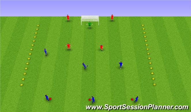 Football/Soccer Session Plan Drill (Colour): Leikrænþjálfun