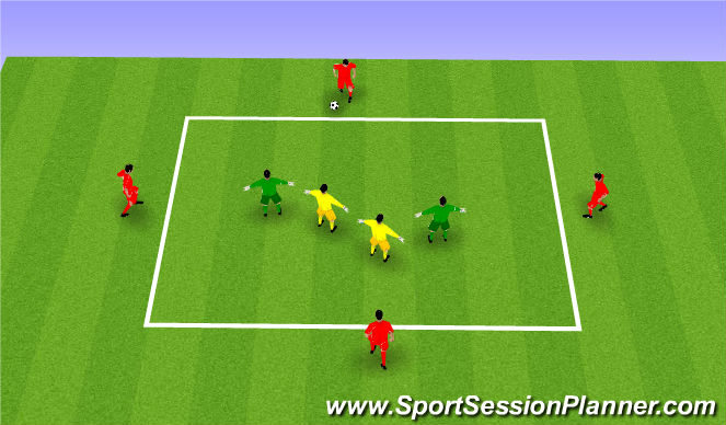 Football/Soccer Session Plan Drill (Colour): Training CMs