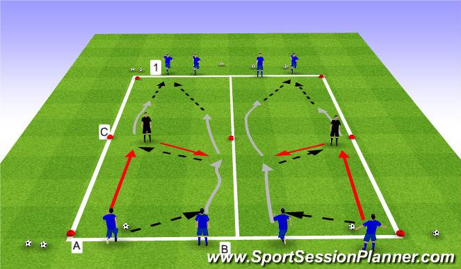 Football/Soccer Session Plan Drill (Colour): Skill Intro (20 mins)