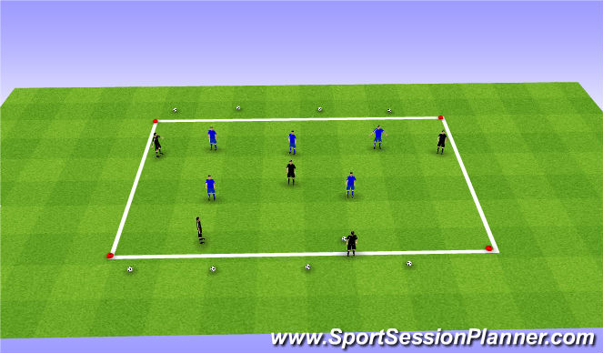 Football/Soccer Session Plan Drill (Colour): Skill Training (25mins)