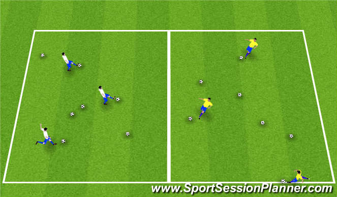 Football/Soccer Session Plan Drill (Colour): Clean The Yard