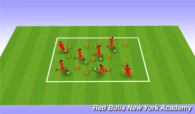 Football/Soccer Session Plan Drill (Colour): Fire Fighter