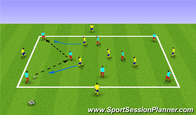 Football/Soccer Session Plan Drill (Colour): Possession & Transition
