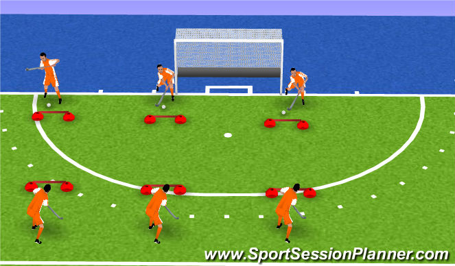 Hockey Session Plan Drill (Colour): warm up mobility