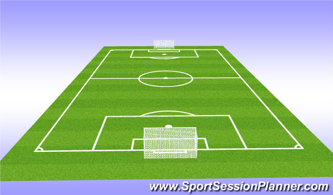 Football/Soccer Session Plan Drill (Colour): SSG how many shots can you get