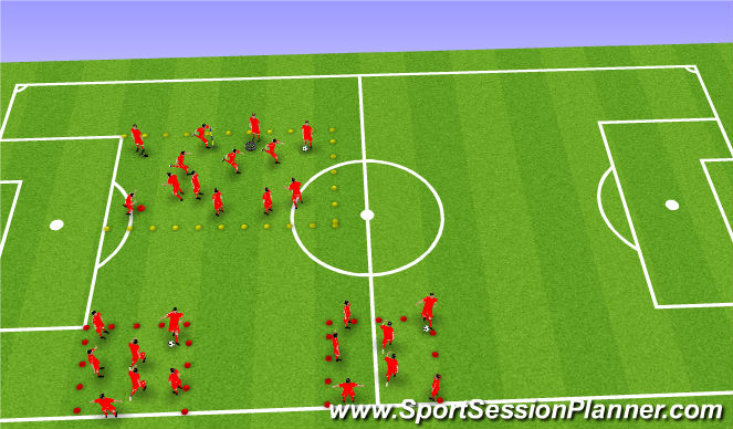 Football/Soccer Session Plan Drill (Colour): Warm-up Fun