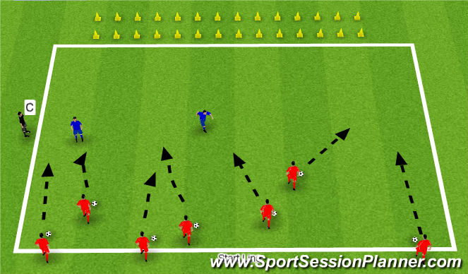 Football/Soccer Session Plan Drill (Colour): Treasure Collection