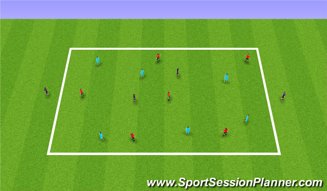 Football/Soccer Session Plan Drill (Colour): Receiving skills & Protecting the ball