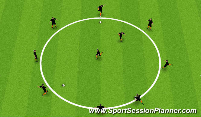 Football/Soccer Session Plan Drill (Colour): WU - Astroids