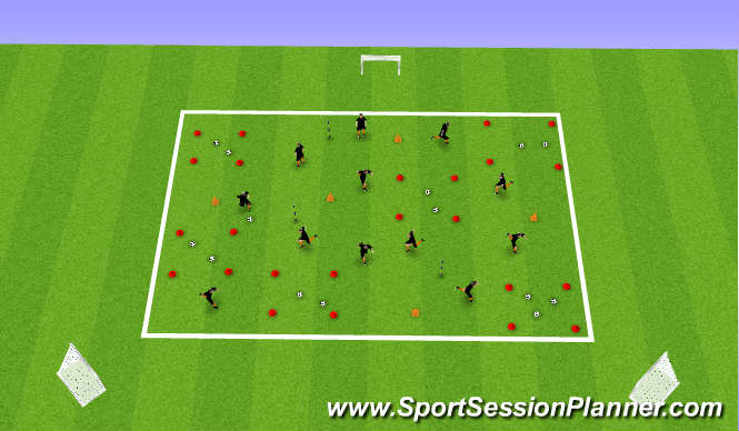 Football/Soccer Session Plan Drill (Colour): BM Box Transfer