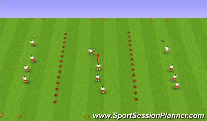 Football/Soccer Session Plan Drill (Colour): Sendingar í vegg.