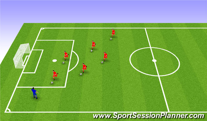 Football/Soccer Session Plan Drill (Colour): Fun Game