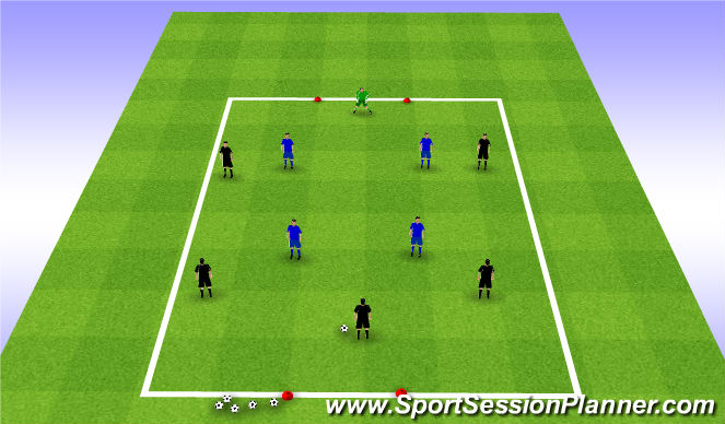 Football/Soccer Session Plan Drill (Colour): Skill Game (20mins)