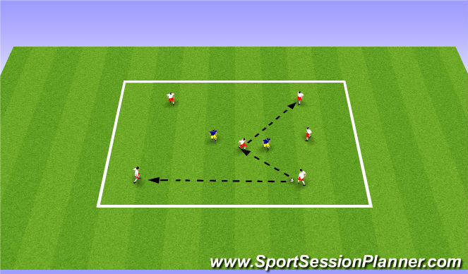 Football/Soccer Session Plan Drill (Colour): ADP July 14th