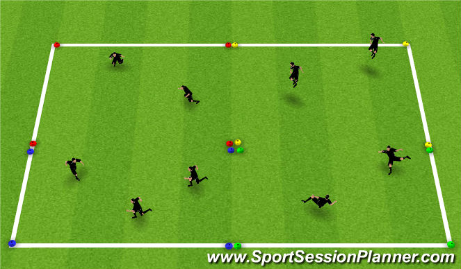Football/Soccer Session Plan Drill (Colour): WU: Movements