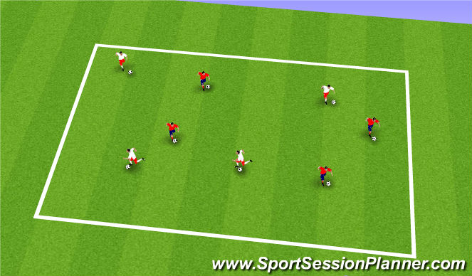 Football/Soccer Session Plan Drill (Colour): BallMastery Warm up