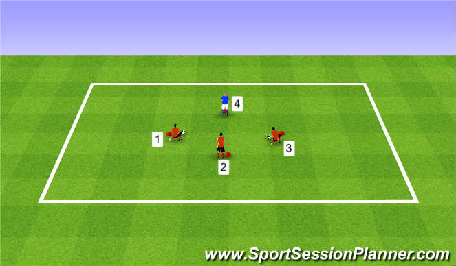 Football/Soccer Session Plan Drill (Colour): Speed of Play Warm-Up