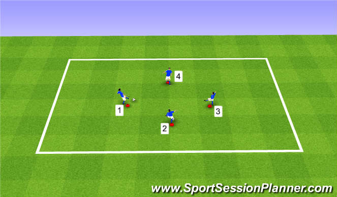 Football/Soccer Session Plan Drill (Colour): Speed of Play Warm-Up 2