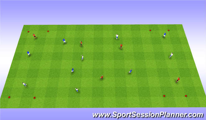 Football/Soccer Session Plan Drill (Colour): End Zone SPOA
