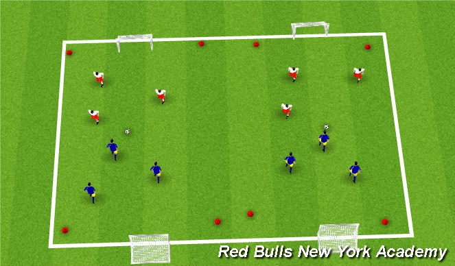 Football/Soccer Session Plan Drill (Colour): tournament