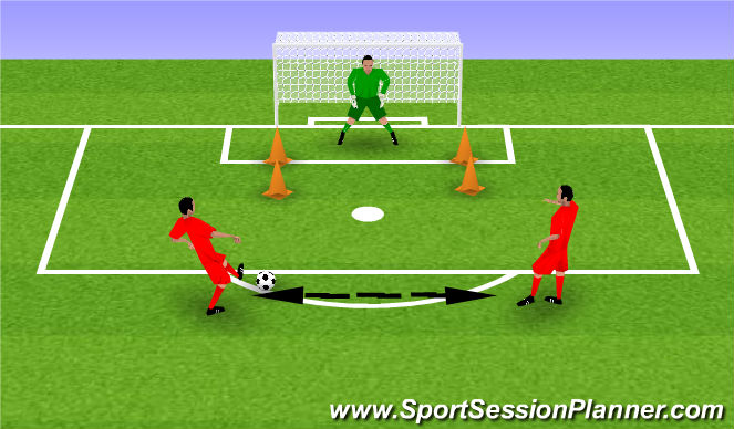 Football/Soccer Session Plan Drill (Colour): Game Realisitic
