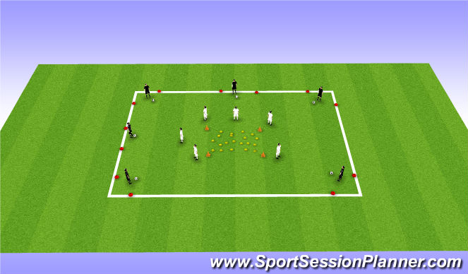 Football/Soccer Session Plan Drill (Colour): Warm Up: Game