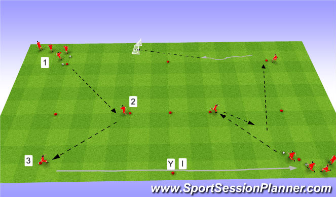 Football/Soccer Session Plan Drill (Colour): Intro 2 + Spelvorm