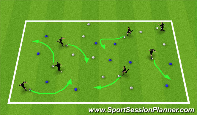 Football/Soccer Session Plan Drill (Colour): Technical T1