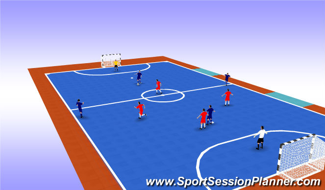 Futsal Session Plan Drill (Colour): Game