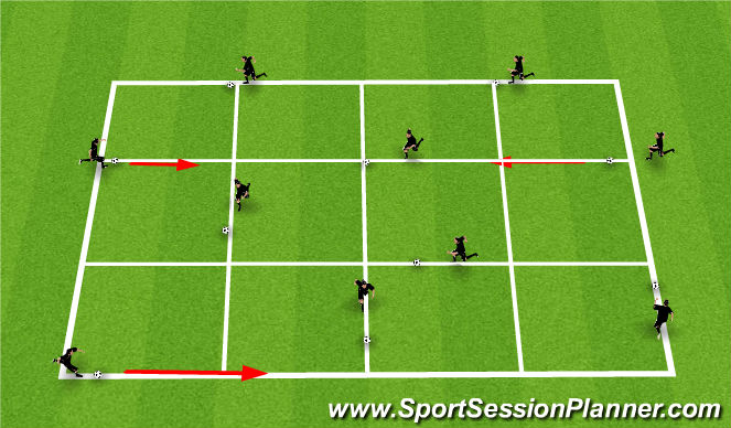 Football/Soccer Session Plan Drill (Colour): Technical 1 (T1); Individual Possession