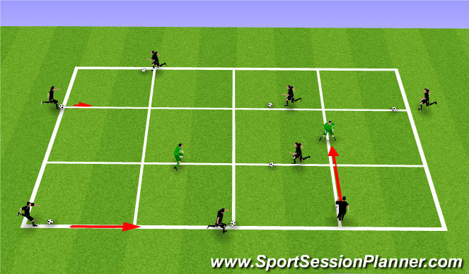 Football/Soccer Session Plan Drill (Colour): Technical 2 (T2); Individual Possession