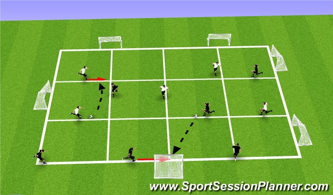 Football/Soccer Session Plan Drill (Colour): Conditioned Game (CG); Individual Possession