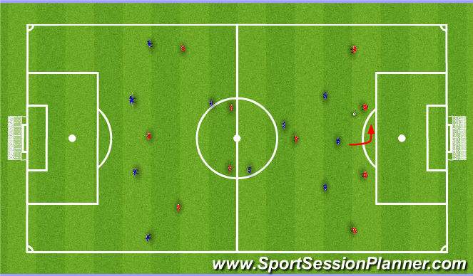 Football/Soccer Session Plan Drill (Colour): Centre-Back in possession (v a 4-3-3)
