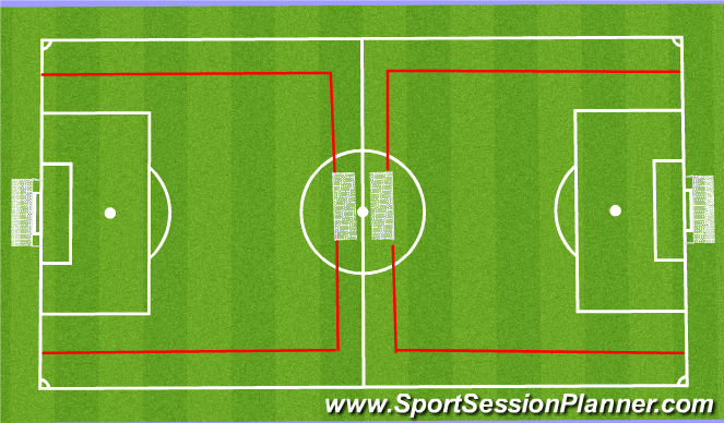 Football/Soccer Session Plan Drill (Colour): 9v9 to goals