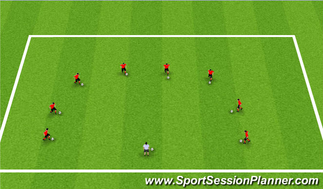 Football/Soccer Session Plan Drill (Colour): Activity 1: 1,000 Touches