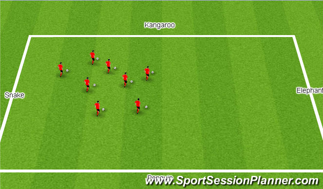 Football/Soccer Session Plan Drill (Colour): Activity 2: Around the Zoo