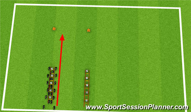 Football/Soccer Session Plan Drill (Colour): 2-out, 2-in, Tap-tap