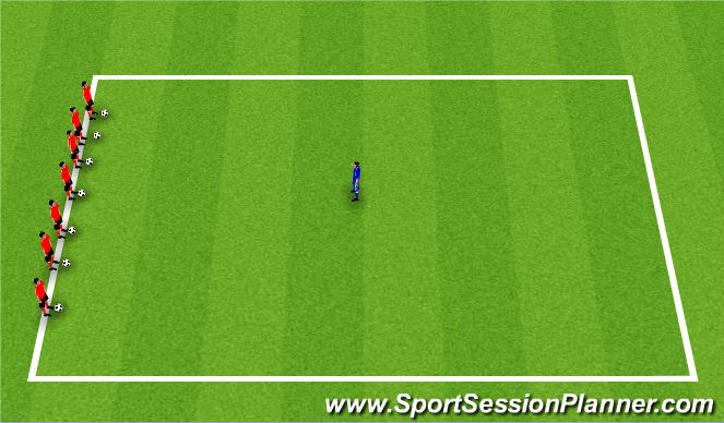 Football/Soccer Session Plan Drill (Colour): Warm-Up: Sharks n' Minnows
