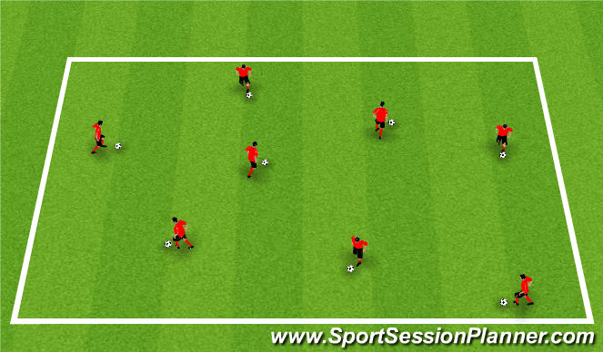 Football/Soccer Session Plan Drill (Colour): Activity 1: Technical Box