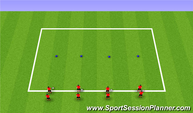 Football/Soccer Session Plan Drill (Colour): Activity 2: Relay Races