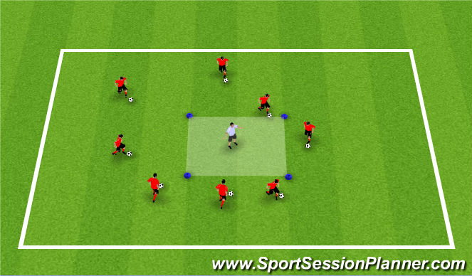 Football/Soccer Session Plan Drill (Colour): Activity 1: Dribble Square