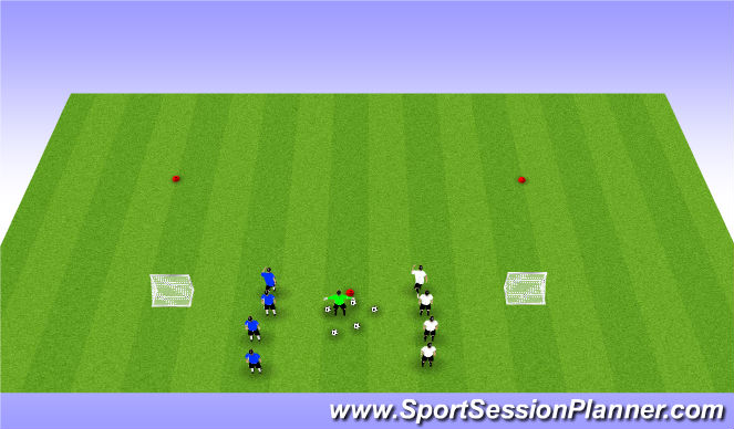 Football/Soccer Session Plan Drill (Colour): 1v1 Combat