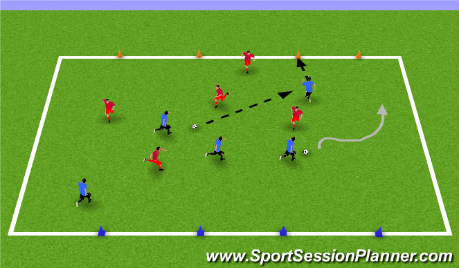 Football/Soccer Session Plan Drill (Colour): CG