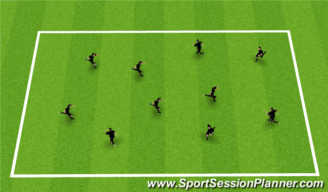 Football/Soccer Session Plan Drill (Colour): Body Parts without Ball