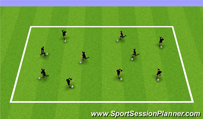Football/Soccer Session Plan Drill (Colour): Body Parts with Ball