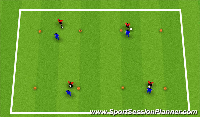 Football/Soccer Session Plan Drill (Colour): Activity 1: Chelsea 1v1's